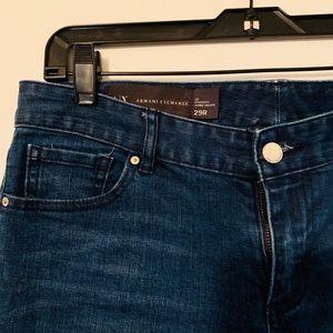 Armani Exchange dark blue jeans - Size 29R